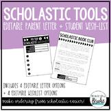 EDITABLE Scholastic Book Club Resources - Parent Letter +