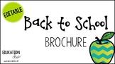 EDITABLE School Brochure *COLOR & BW*