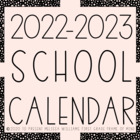 EDITABLE Calendar 2017-2018 1-page and 2-page spreads {FRE