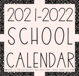 EDITABLE Calendar 2018-2019 1-page and 2-page spreads {UPDATED TO DEC 2019}