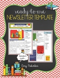 EDITABLE School Class Newsletter Template (Bookworm Reading Library Theme)
