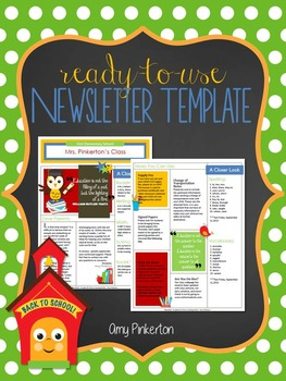 EDITABLE School Class Newsletter Template (Primary Colors with Owl)