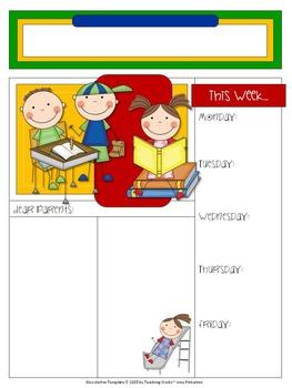 EDITABLE School Class Newsletter Template (School Little Kids Theme I)