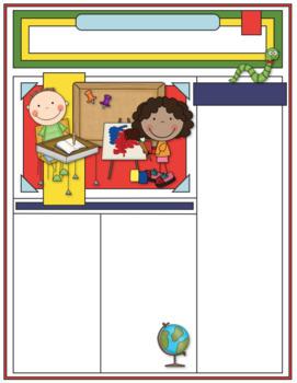 EDITABLE School Class Newsletter Template (School Little Kids Theme II)