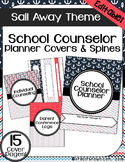 EDITABLE: School Counselor Planner Covers & Spines (Nautical)