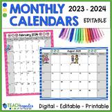 2019-2021 Calendar Editable and Printable