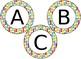 EDITABLE School themed circular bulletin board letters