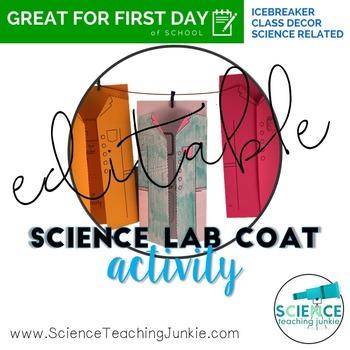 EDITABLE Science Lab Coat Activity