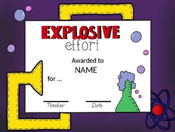 EDITABLE Science Themed Certificates