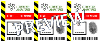 EDITABLE Scientist Badges