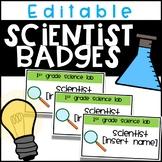 EDITABLE Scientist Badges