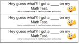 EDITABLE Score Slips for Tests!  (Parent Communication)