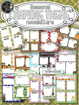 EDITABLE Seasonal Camping Theme Newsletters