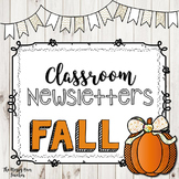 EDITABLE Seasonal Newsletter Template- FALL