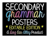 EDITABLE Secondary Grammar Posters