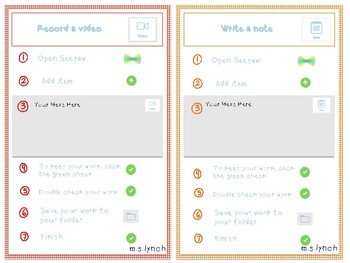 EDITABLE Seesaw Task Cards