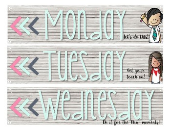 EDITABLE Shabby-Chic Inspired Sterilite Drawer Labels with Motivational Quotes
