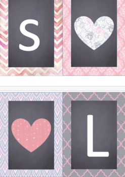 EDITABLE Shabby Chic Pink Wall Banners