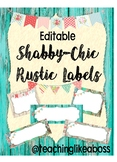 EDITABLE Shabby-Chic Rustic Classroom Labels & Tags