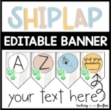 EDITABLE Shiplap Banner