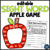 EDITABLE Sight Word Apple Game