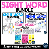 EDITABLE Sight Word BUNDLE