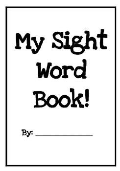 EDITABLE Sight Word Book!