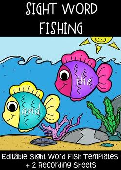 EDITABLE Sight Word Fishing