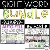 EDITABLE Sight Word Game BUNDLE