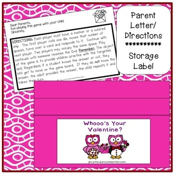 Valentine Sight Word Game – Whooo's Your Valentine? {EDITABLE}