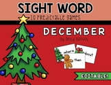 EDITABLE Sight Word Games // December Edition
