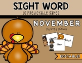 EDITABLE Sight Word Games // November Edition