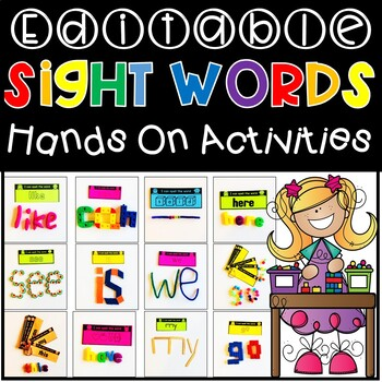 EDITABLE Sight Word / Word Work Hands On Activities & Centers