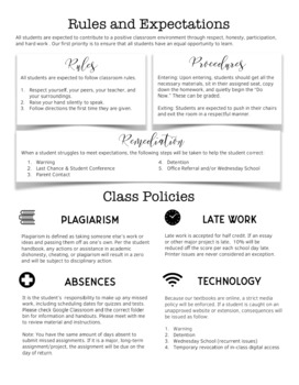 EDITABLE Simple and Sleek Syllabus