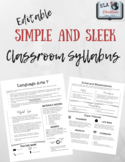 EDITABLE Simple and Sleek Syllabus