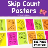 EDITABLE Skip Count Posters 1-12