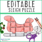 EDITABLE Sleigh Activities | Make Your Own Math & Literacy Puzzles on ANY Topic!