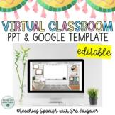 EDITABLE Virtual Classroom Template Slide - Rustic - Dista