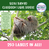 EDITABLE Sloth Book Bin, Schedule, Table, Group, and Job L