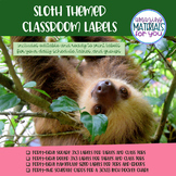 EDITABLE Sloth Schedule, Table, Group, and Job Labels