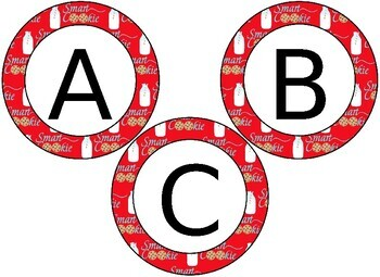 EDITABLE Smart Cookie themed circular bulletin board letters