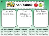 EDITABLE Smart Notebook Lunch Count/Attendance September - June