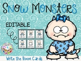 EDITABLE Snow Monsters Write the Room Cards