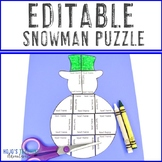 EDITABLE Snowman Centers or Activities - Make your own Mat