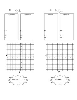 EDITABLE: Solving Systems of Equation by Graphing