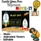 EDITABLE Space Move It - Brain Breaks