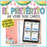 Spanish Preterite Tense AR VERBS Digital Task Cards -Distance Learning