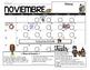 EDITABLE Spanish & English Behavior Calendar {November}