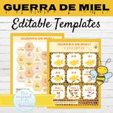 EDITABLE Spanish Game Template Guerra de Miel | Writing Activity