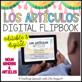 EDITABLE Spanish Nouns and Articles Digital Flipbook - Distance Learning